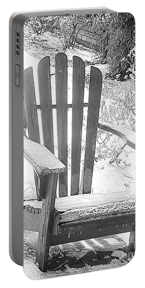 Chair Portable Battery Charger featuring the photograph Out Of Season by Charleen Treasures