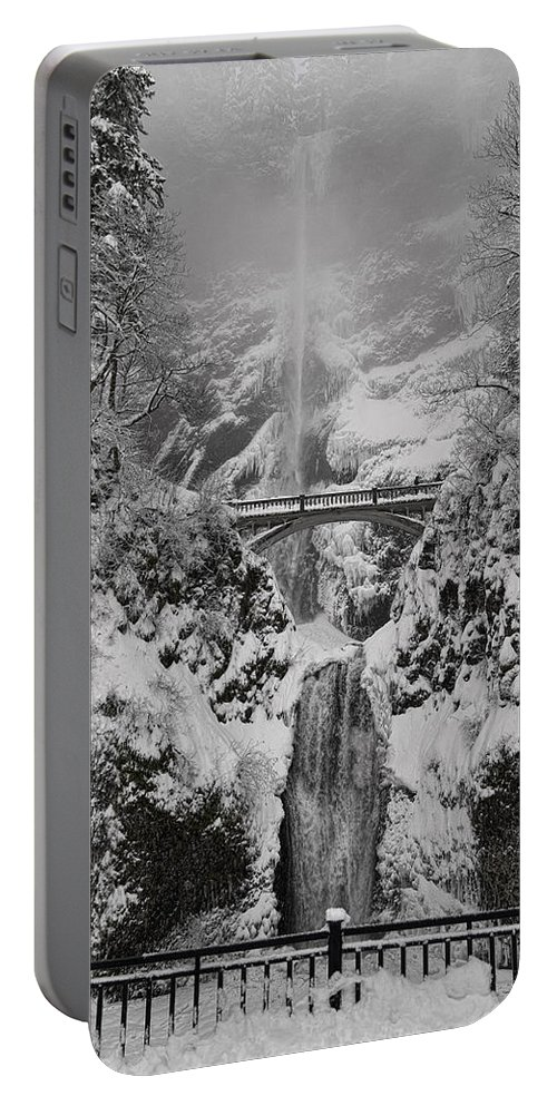 Out Of The Fog Portable Battery Charger featuring the photograph Out Of The Fog by Wes and Dotty Weber