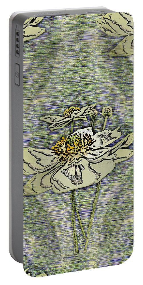 Abstract Portable Battery Charger featuring the digital art Out Of The Mist 2 by Tim Allen