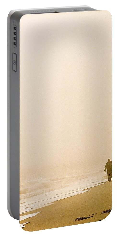 Landscape Portable Battery Charger featuring the photograph Out Of The Mist by Steve Karol