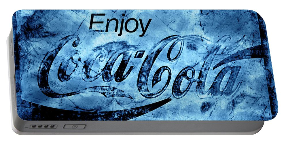Coca Cola Portable Battery Charger featuring the photograph Out Of This World Coca Cola Blues by John Stephens