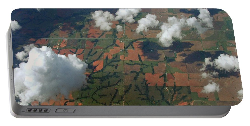 Clouds Portable Battery Charger featuring the photograph Out The Window by Robert Meanor