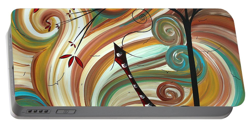 Wall Portable Battery Charger featuring the painting Out West II By Madart by Megan Duncanson