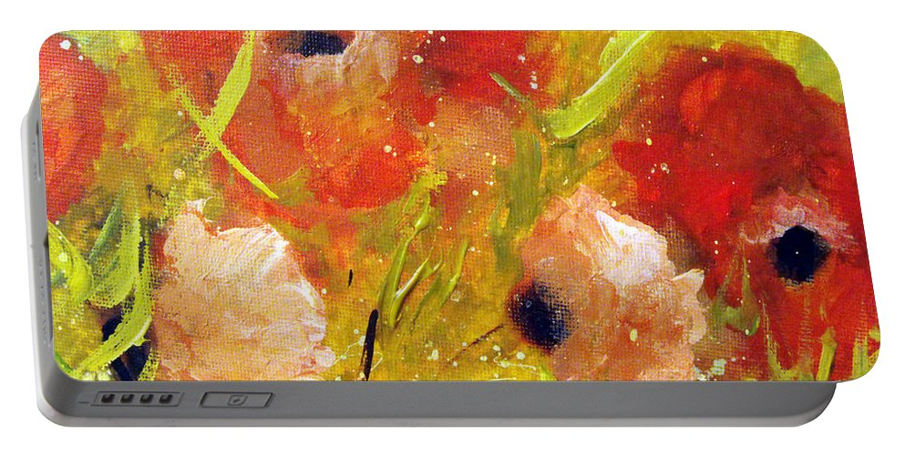Decorative Portable Battery Charger featuring the painting Out With The Sun by Ruth Palmer