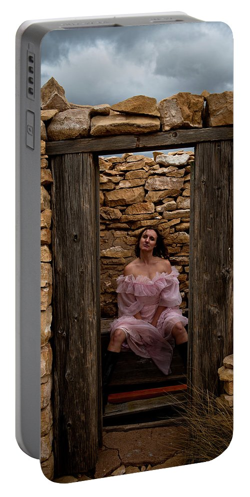 Woman Portable Battery Charger featuring the photograph Outdoor Outhouse by Scott Sawyer