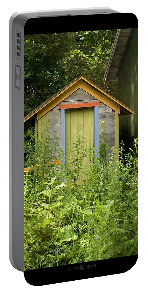 Outhouse Portable Battery Charger featuring the photograph Outhouse by Tim Nyberg