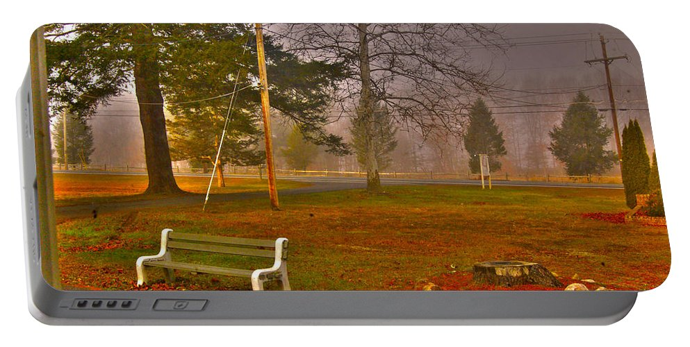 Fine Art Photography Portable Battery Charger featuring the photograph Outside My Window by Nicholas Costanzo