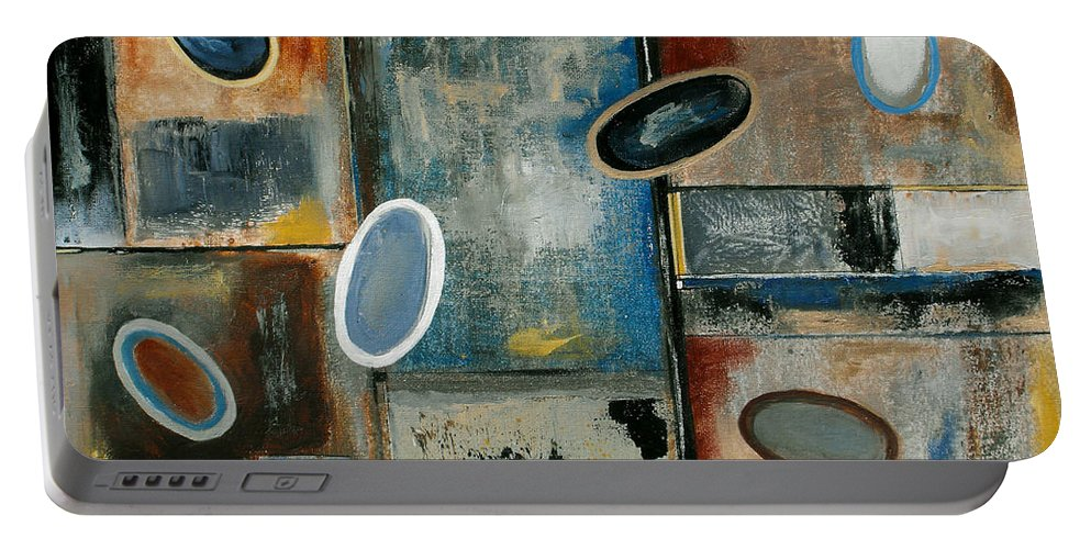 Acrylic Portable Battery Charger featuring the painting Over Easy by Ruth Palmer