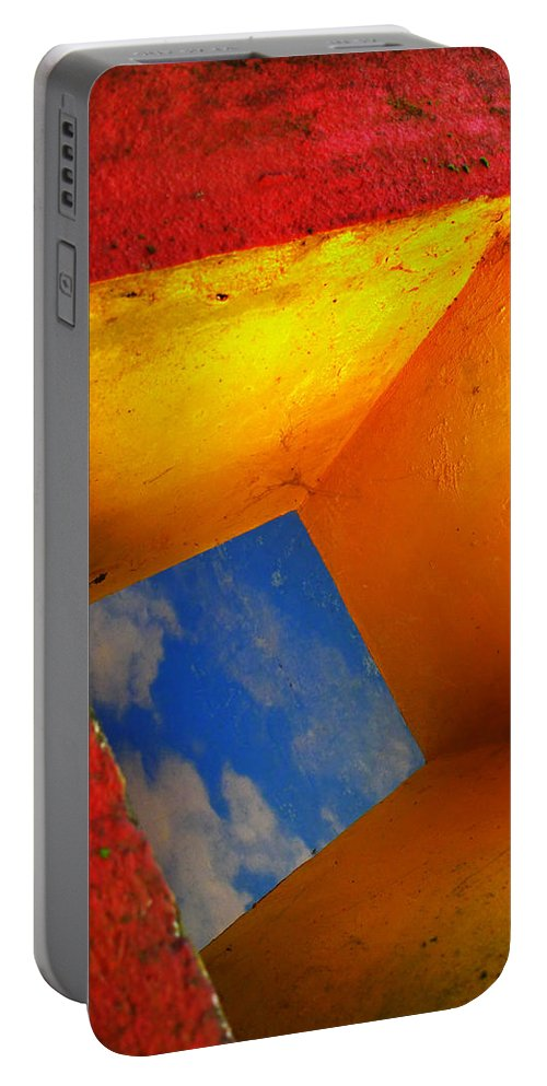 Skip Hunt Portable Battery Charger featuring the photograph Over The Rainbow by Skip Hunt