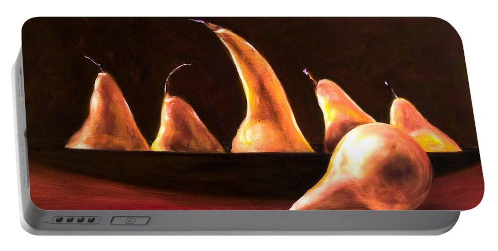 Still Life Portable Battery Charger featuring the painting Overboard by Shannon Grissom