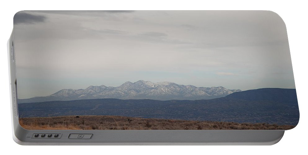 Mountains Portable Battery Charger featuring the photograph Overcast On The Sandias by Rob Hans