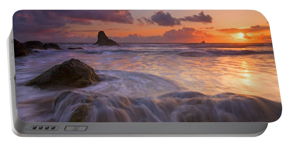 Sunset Portable Battery Charger featuring the photograph Overcome by Mike Dawson