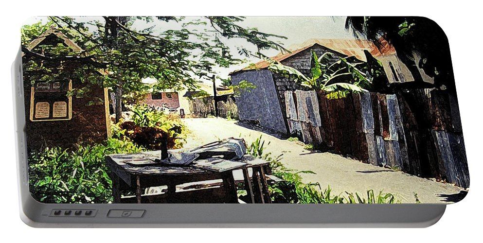 Barbados Portable Battery Charger featuring the photograph Overdene by Ian MacDonald