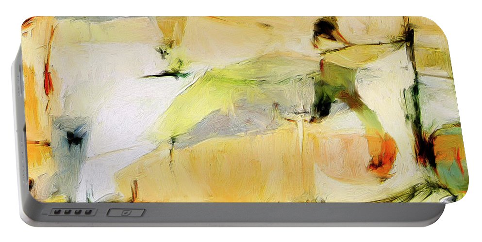 Abstract Portable Battery Charger featuring the painting Overlook by Dominic Piperata