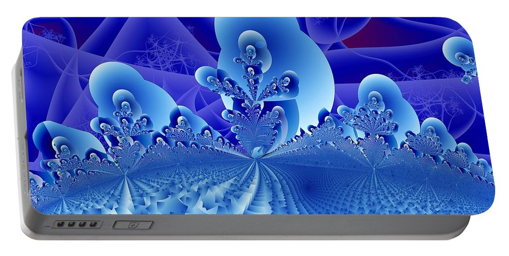 Fractal Image Portable Battery Charger featuring the digital art Overlook by Ron Bissett