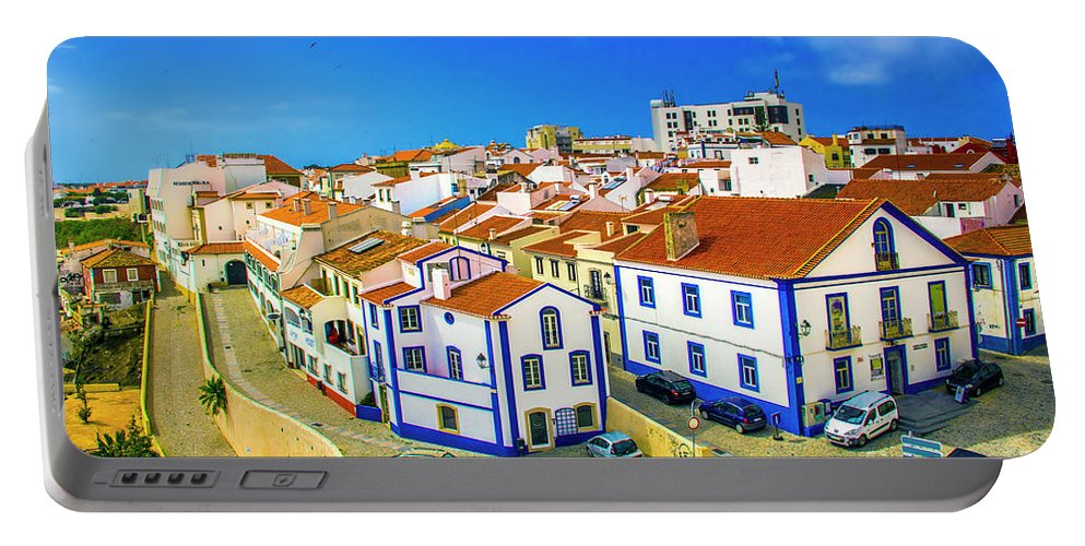 Sines Portable Battery Charger featuring the photograph Overlooking Sines by Roberta Bragan