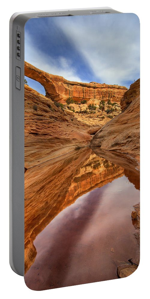 Bridge Portable Battery Charger featuring the photograph Owachomo Reflected by Mike Dawson