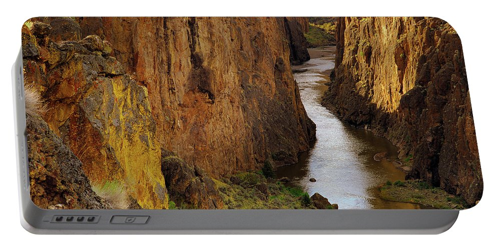 Idaho Scenics Portable Battery Charger featuring the photograph Owhyee River by Leland D Howard