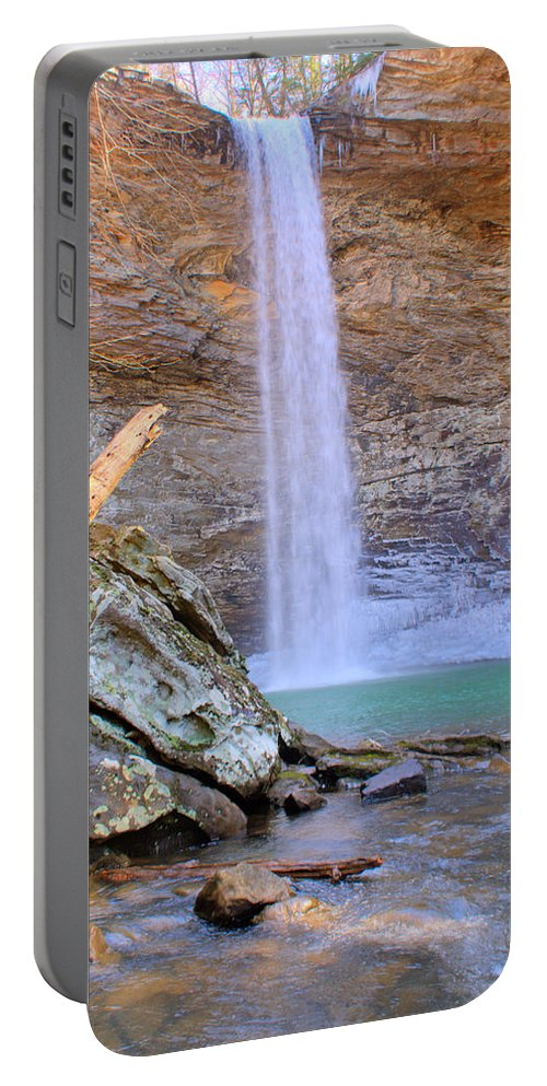 Ozone Portable Battery Charger featuring the photograph Ozone A 90 Foot Waterfall by Douglas Barnett