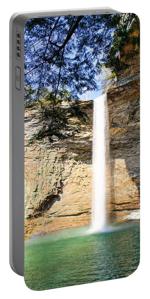 Ozone Portable Battery Charger featuring the photograph Ozone Falls Focus by Douglas Barnett