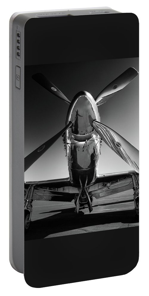 P51 Portable Battery Charger featuring the photograph P-51 Mustang by John Hamlon