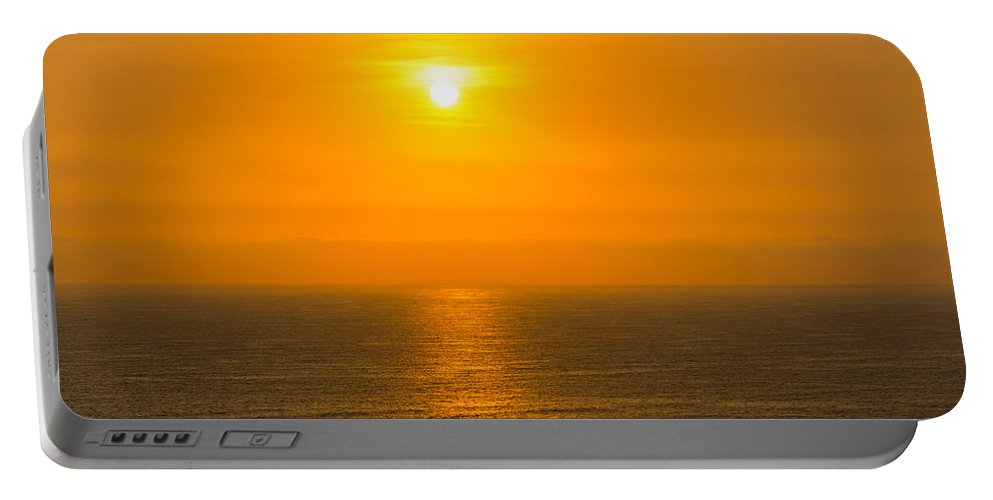 Lima Portable Battery Charger featuring the photograph Pacific Ocean Sunset by Jess Kraft