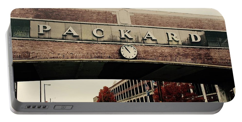 Packard Plant Portable Battery Charger featuring the photograph Packard Plant by Deborah Magasark