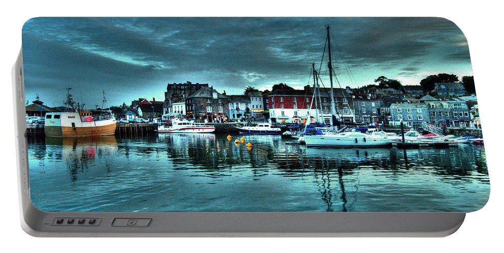 Padstow Portable Battery Charger featuring the photograph Padstow Harbour At Dusk by Rob Hawkins