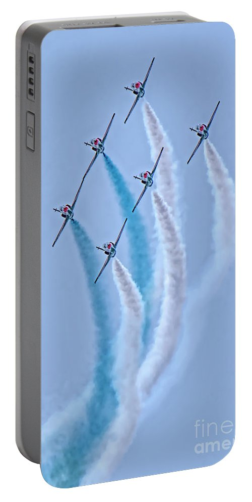 Paf Sherdils Aerobatic Team Portable Battery Charger featuring the photograph Paf Shedilaerobatic Team Formation Flight by Syed Muhammad Munir ul Haq