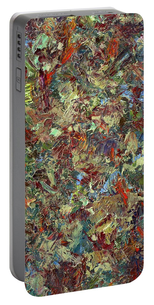 Abstract Portable Battery Charger featuring the painting Paint Number 21 by James W Johnson