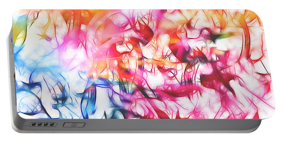 Splattered Paint Portable Battery Charger featuring the digital art Paint Party by Margie Chapman