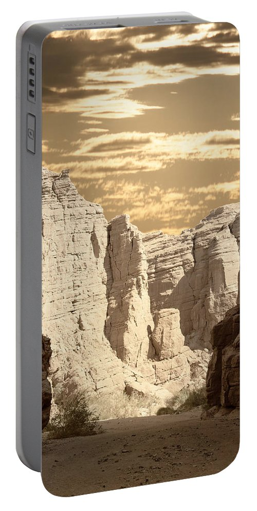 Painted Canyon Trail Portable Battery Charger featuring the photograph Painted Canyon Trail by Linda Dunn