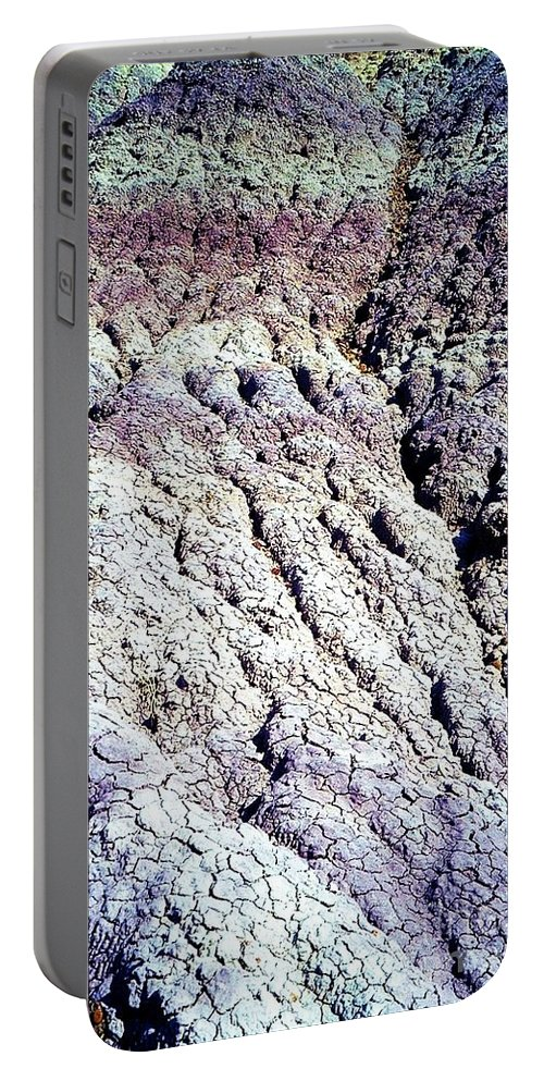 Painted Desert Portable Battery Charger featuring the photograph Painted Desert by Ron Bissett