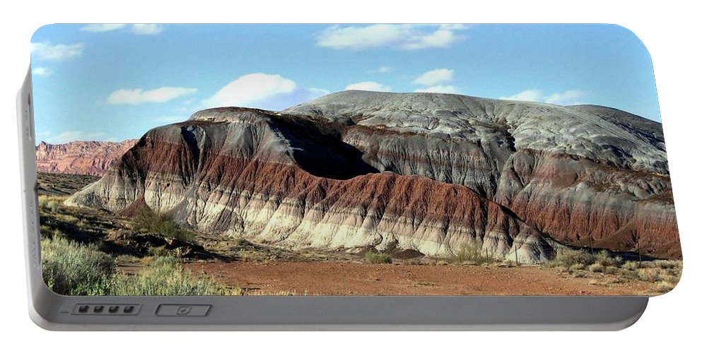 Arizona Portable Battery Charger featuring the photograph Painted Desert by Will Borden