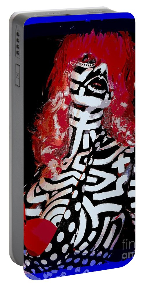 Mannequins Portable Battery Charger featuring the digital art Painted Penny by Ed Weidman