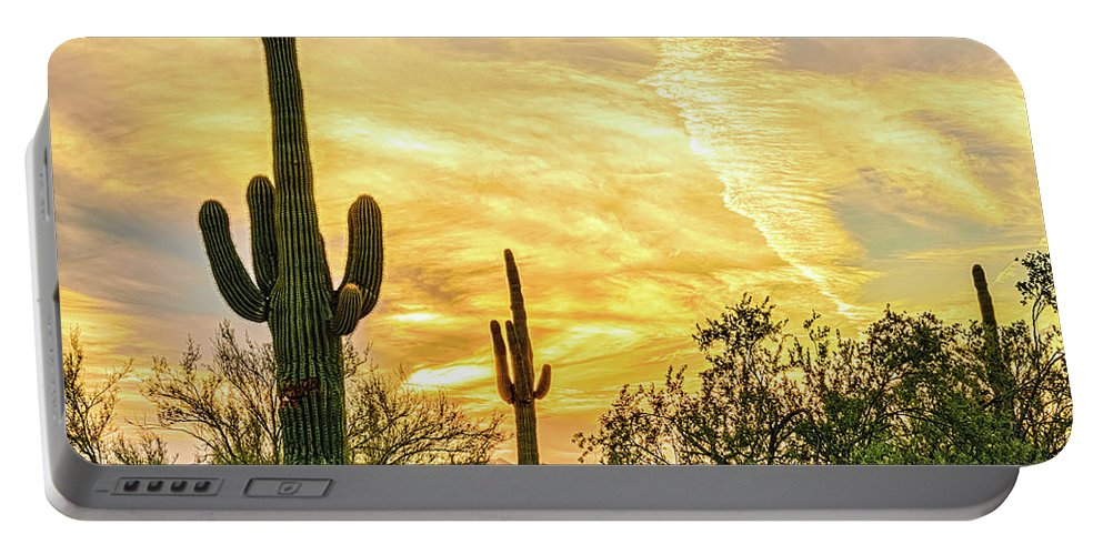 Arizona Portable Battery Charger featuring the photograph Painted Sky by Ken Mickel