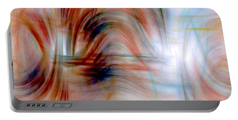 Digital Art Portable Battery Charger featuring the digital art Painted Windows by Linda Sannuti