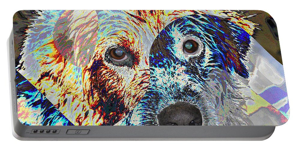 Dog Portable Battery Charger featuring the photograph Painters Helper by Ericamaxine Price