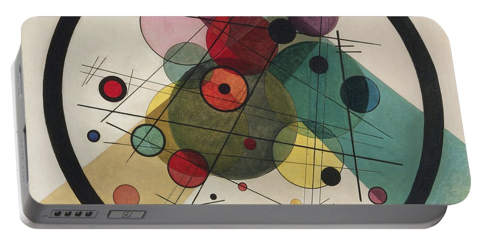 Circles In A Circle Wassily Kandinsky Portable Battery Charger featuring the painting Painting by Wassily Kandinsky