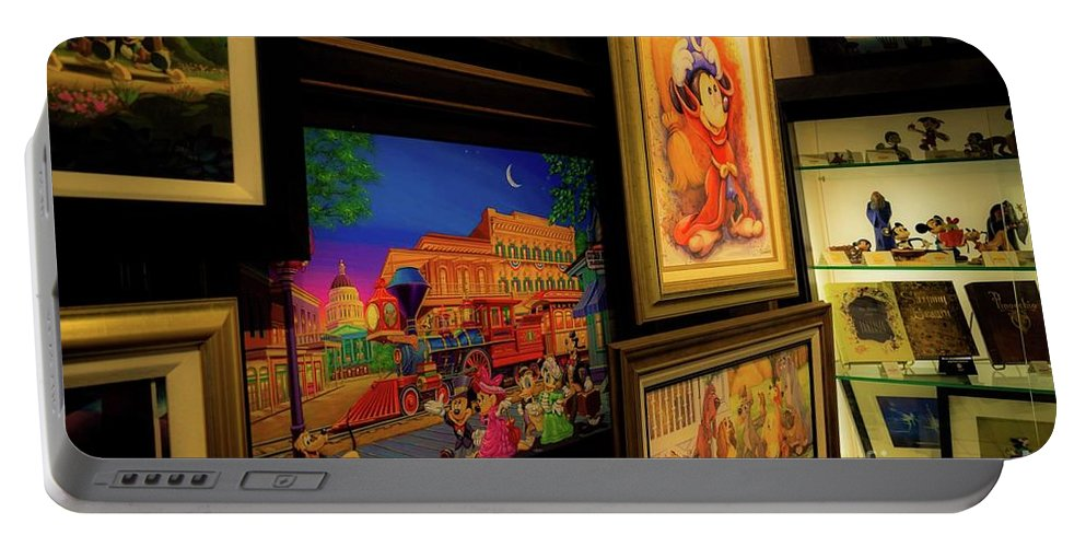 Portable Battery Charger featuring the photograph Paintings Collage by Anthony Lindsay