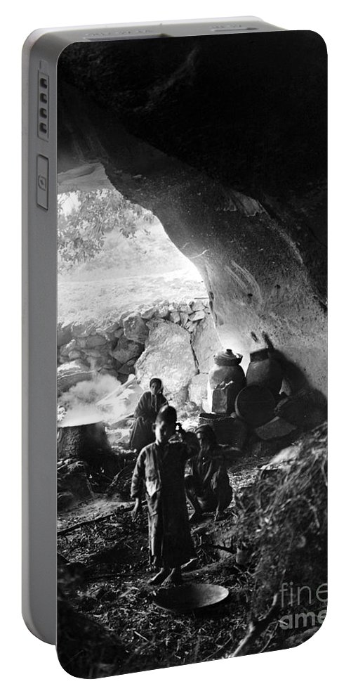 1910s Portable Battery Charger featuring the photograph Palestine: Cave Dwelling by Granger