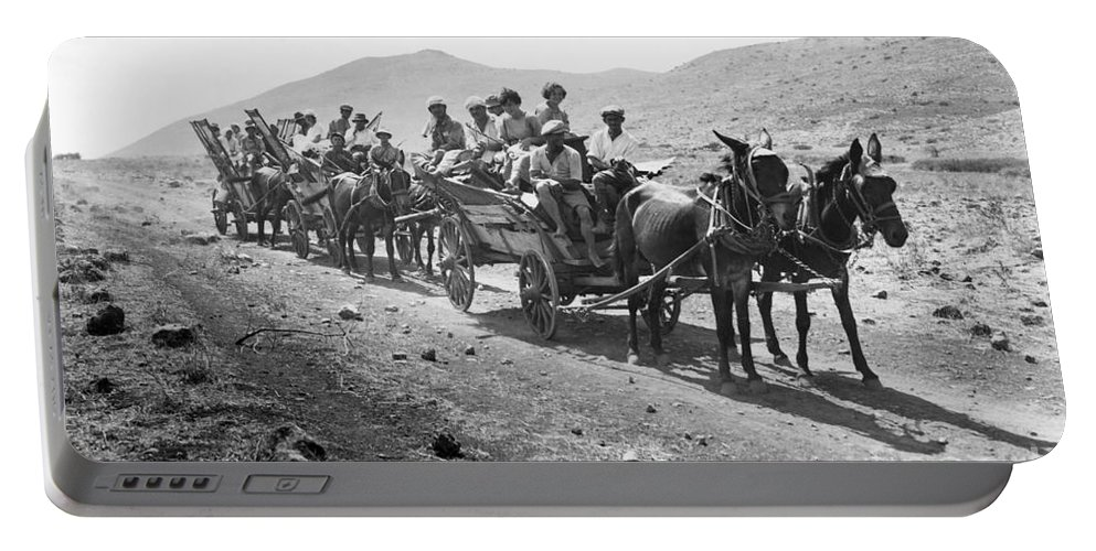 1920 Portable Battery Charger featuring the photograph Palestine Colonists, 1920 by Granger