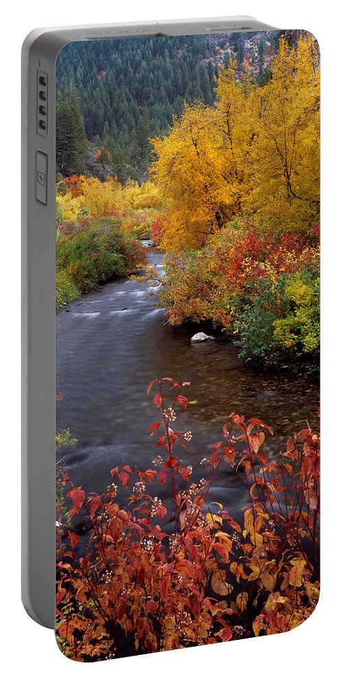 Palisades Creek Portable Battery Charger featuring the photograph Palisades Creek Canyon Autumn by Leland D Howard