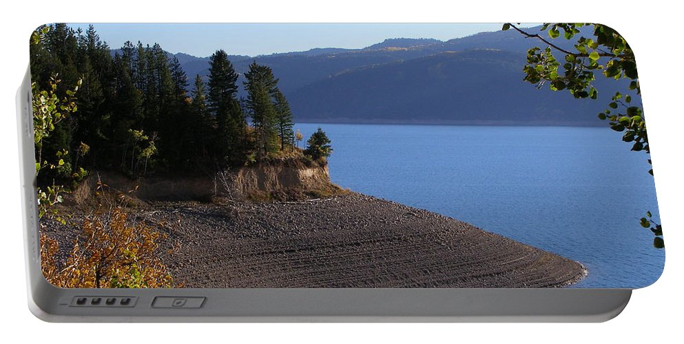 Lake Portable Battery Charger featuring the photograph Palisades by DeeLon Merritt
