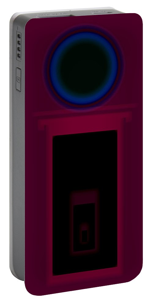 Palladian Portable Battery Charger featuring the painting Palladian Magenta by Charles Stuart
