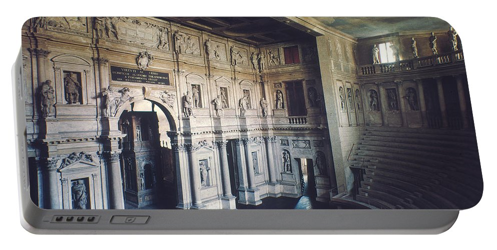 1579 Portable Battery Charger featuring the photograph Palladio: Teatro Olimpico by Granger