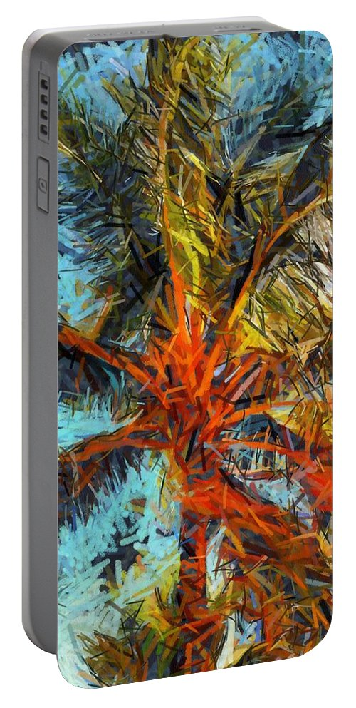 Palm Portable Battery Charger featuring the painting Palm No. 1 by Lelia DeMello