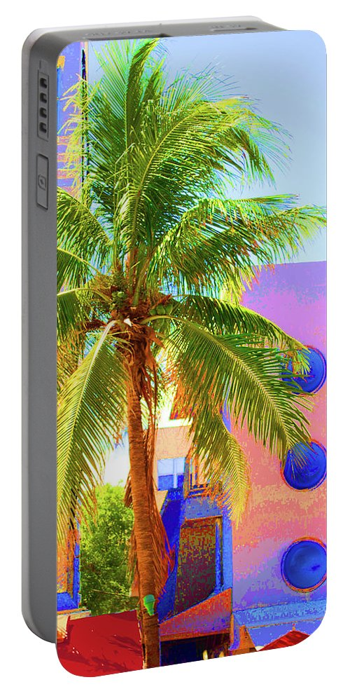 Miami Beach Portable Battery Charger featuring the photograph Palm Of Miami by Jost Houk
