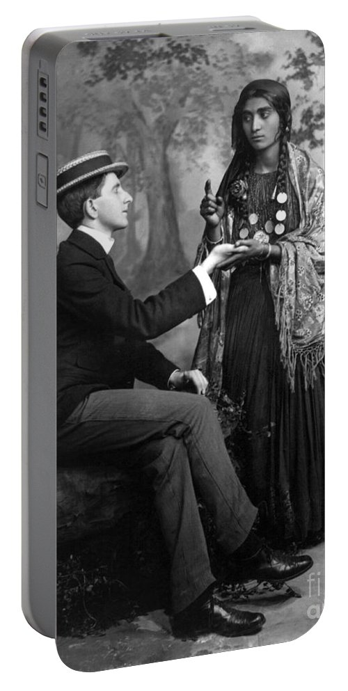 1910 Portable Battery Charger featuring the photograph Palm-reading, C1910 by Granger