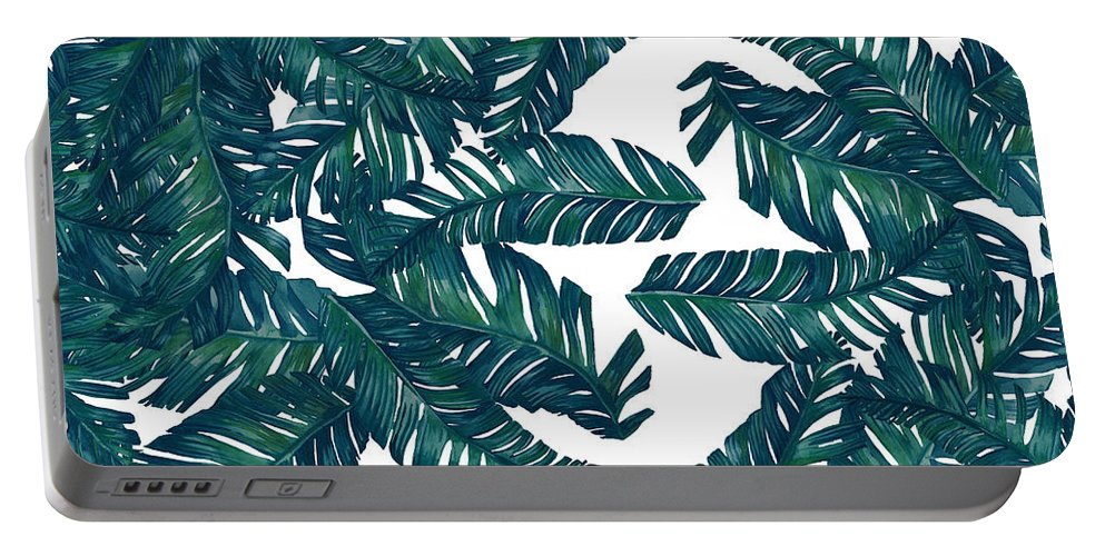 Summer Portable Battery Charger featuring the digital art Palm Tree 7 by Mark Ashkenazi